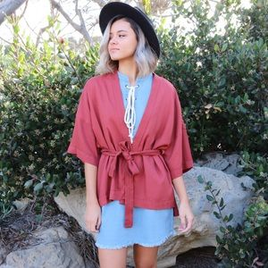 Sweaters - rust kimono